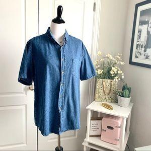 Vintage Walmart Denim Button Up Shirt